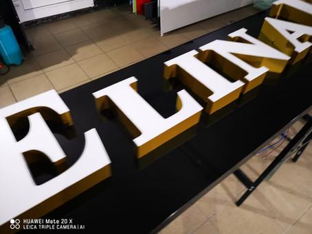 3D Buchstaben & Logos in Front - Rückbeleuchtung
