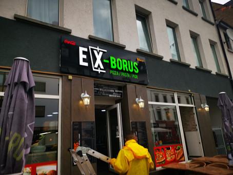 Ex - Borus Döner - Pizzeria Werbung