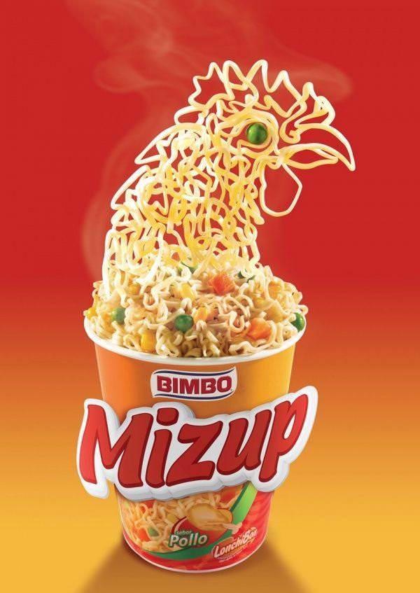 Суп быстрого приготовления Mizup от Bimbo, который оживает в процессе приготовления.