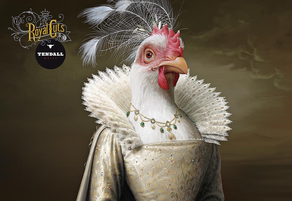 Королевское мясное ассорти от ресторана Tendall grill, куда помимо курицы входят свинья, корова и козел.
