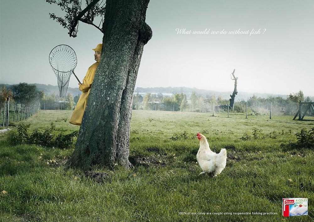 """Реклама замороженных рыбных продуктов шведского бренда Findus. """"Что бы мы делали без рыбы?"""""""