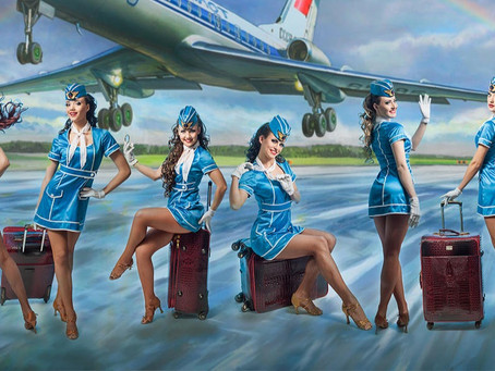 """""""Аэрофлот"""" и мир. Как менялись стюардессы (много картинок)"""
