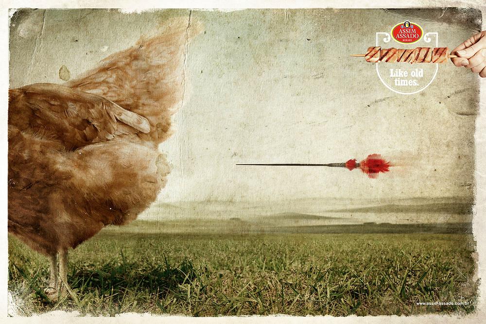 Реклама мясных блюд ресторана Assim Assada из Сан-Пауло, созданная бразильским агентством Y&R.