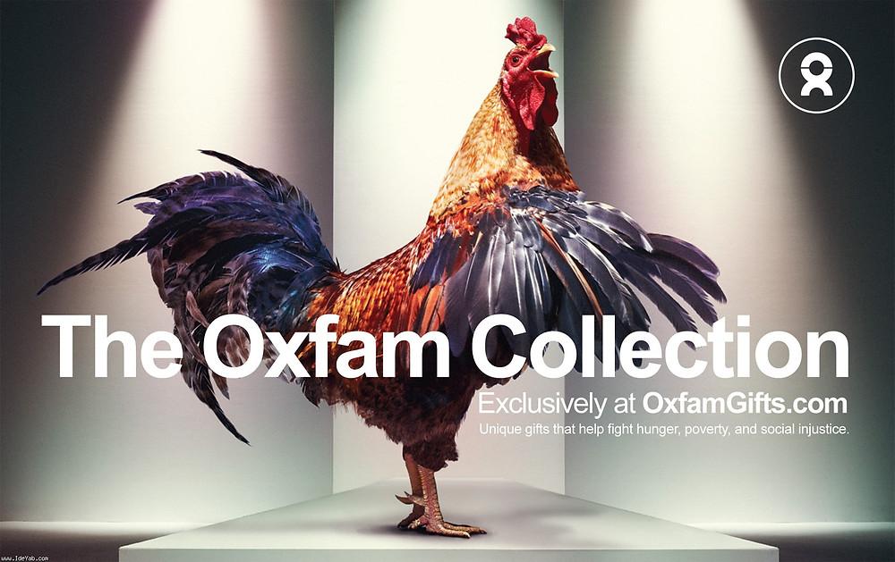 """""""Уникальные подарки, которые помогают бороться с голодом, бедностью и социальной несправедливостью"""". Международная благотворительная организация Oxfam. Рекламное агентство Proximity, Чикаго."""