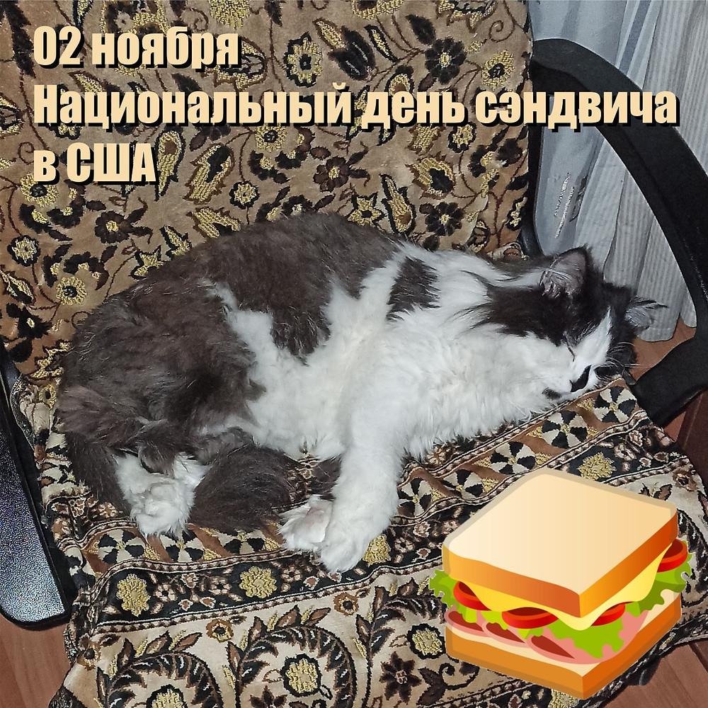 03 ноября 2020 г. Национальный день сэндвича в США