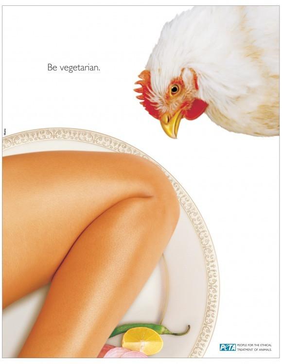Организация по борьбе за права животных PETA вот таким вот образом решила сделать внушение мясоедам.