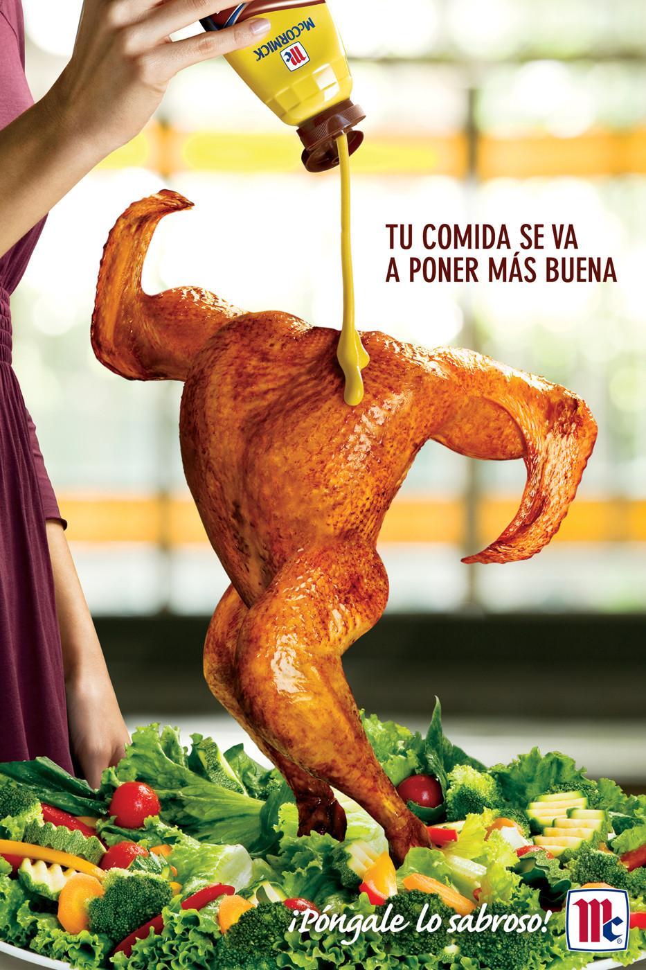 Горчица McCormick делает курицу красивее, утверждает мексиканское агентство Publicidad Augusto Elias.