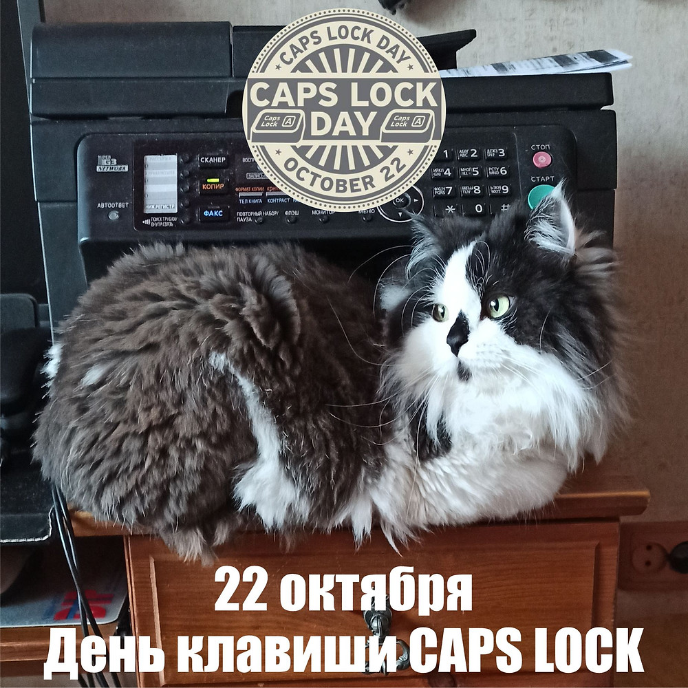 22 октября 2020 г.  Всемирный день Caps Lock