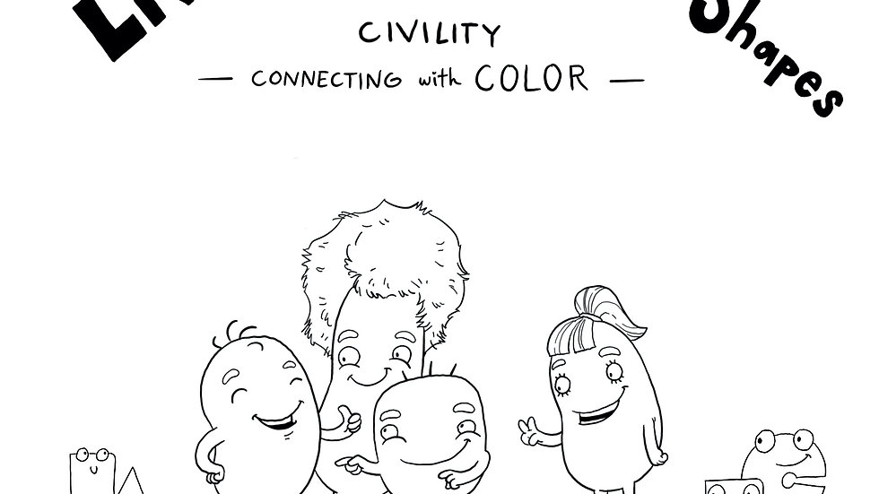 Coloring Book: Living in The World of Shapes
