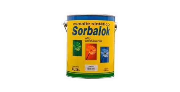 SORBALOK - ESMALTE SINTETICO NEGRO SATINADO X 1/2