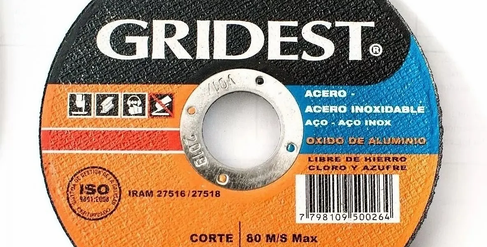 DISCO DE CORTE GRIDEST 180 X 1.6MM