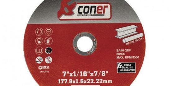 DISCO DE CORTE CONER 180 X 1.6 MM