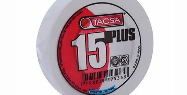 CINTA AISLADORA PVC 15PLUS BLANCO 10 MT