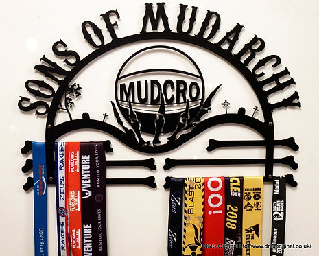 ' Sons of Mudarchy ' medal hanger