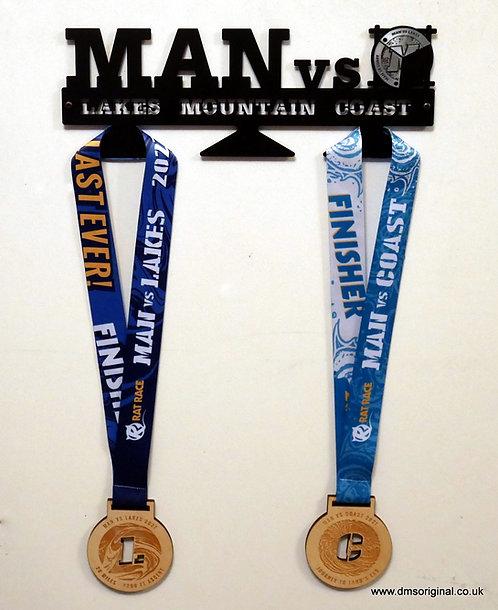 Lakes, Mountain, Coast Trilogy medal hanger