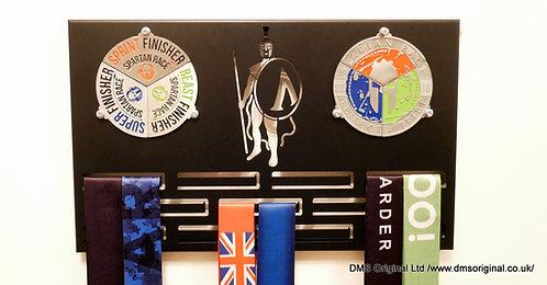 Season pass medal hanger for double trifecta - black