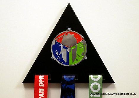 Medal hanger for trifecta ver. 2 black