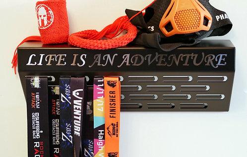 Life is an adventure - shelf medal hanger