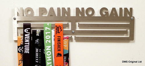 No Pain No Gain medal hanger - triple rail