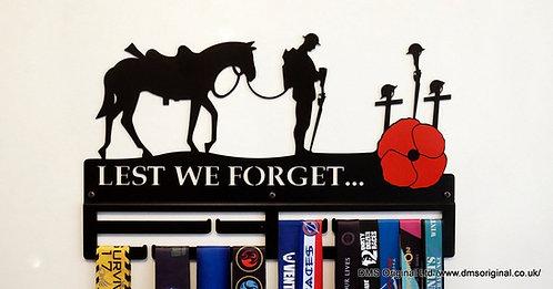 ' Lest We Forget... ' Medal hanger - black