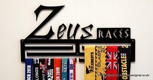 Zeus Races medal hanger - black - triple rail