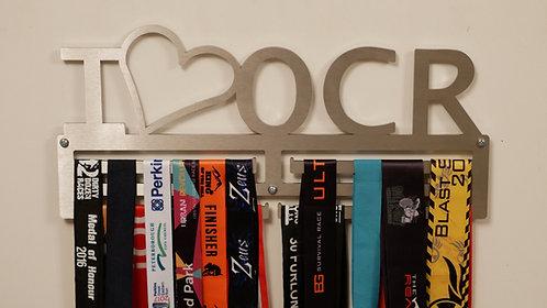 I Love OCR medal hanger - triple Rail