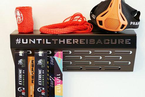 #untilthereisacure - shelf medal hanger