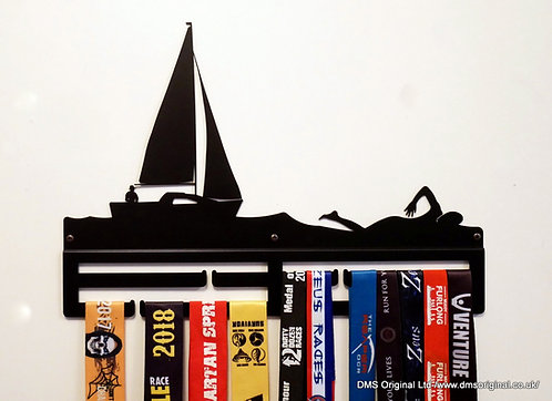 Open water - medal hanger, black