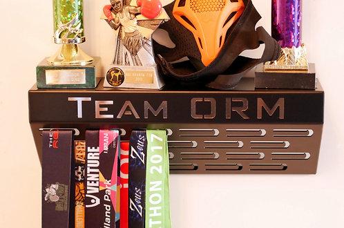 Team ORM - shelf medal hanger