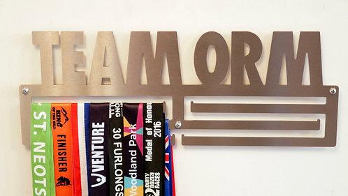 Team ORM medal hanger - triple rail