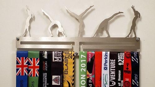Gymnastic medal hanger - double rail