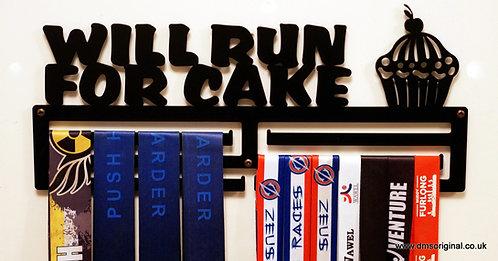 Will Run For Cake medal hanger