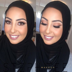 _ ZAHRAA _ _What a face 💕😍 Love dolling up this beauty ❤️ Gorgeous nude tones for my beautiful cli