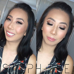 _ THANH _ _Stunning Thanh, glammed up for a friends wedding 😍😍❤️❤️Makeup by me _steph_tee_makeup �