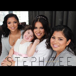 Gorgeous photo of the beautiful bride Diana with her sisters and her daughter ❤️❤️ Makeup by me _ste