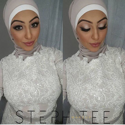 _ HIBA _ _This face 😍😍 Makeup by me _steph_tee_makeup _Hijab styling by _veiledbyzara _Gown by _do