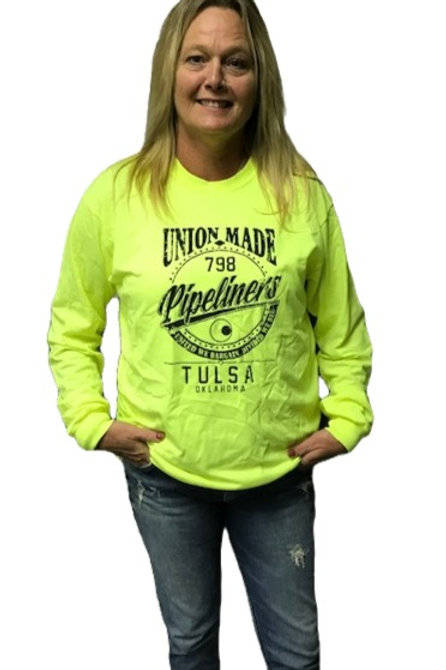 798 Pipeliner's Unisex Shirt Safety Green