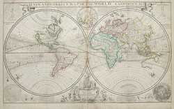 Herman Moll Map of the world 1719