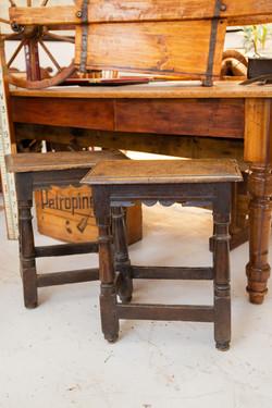 17th Century Oak Stools