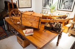 Wood Table and Water Barrow