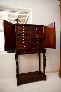 Mahogany Collectors Cabinet