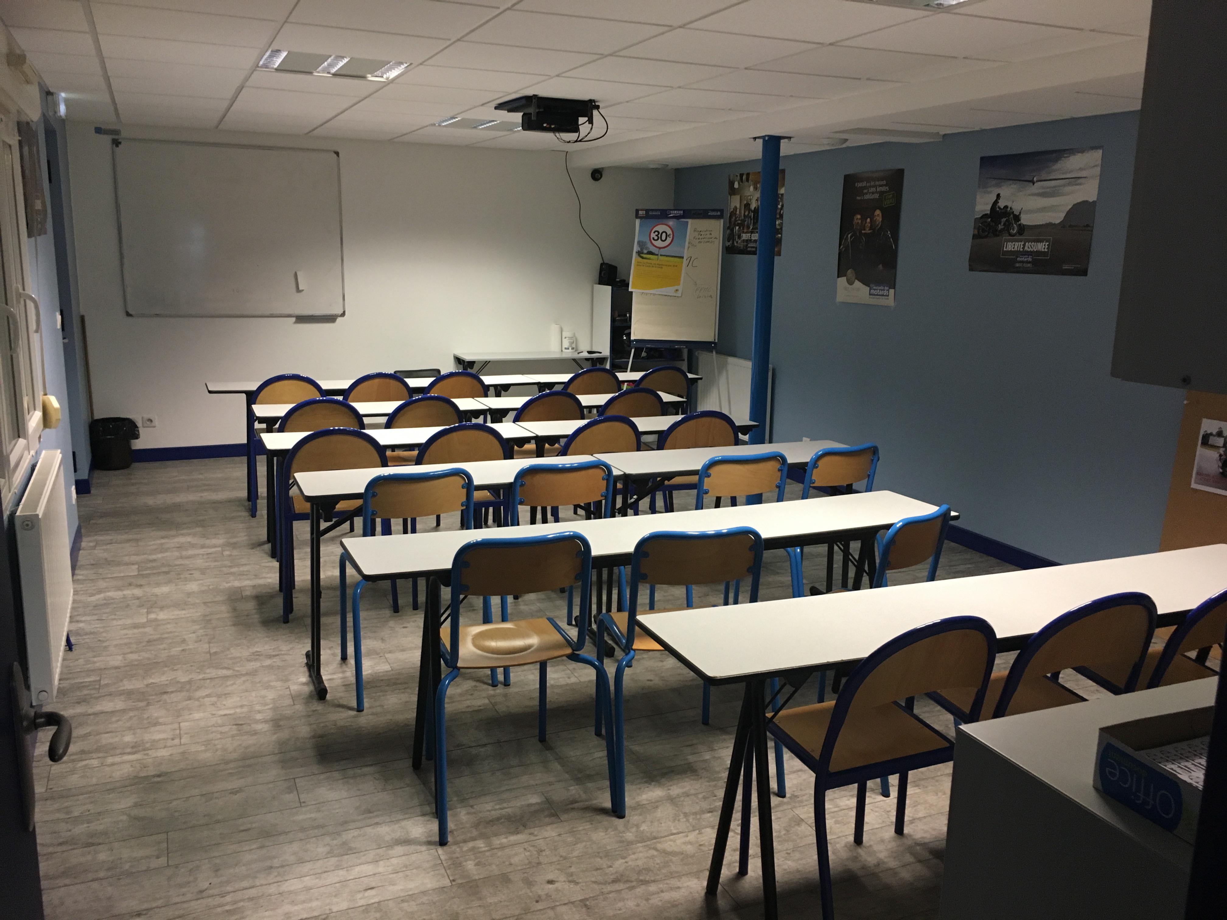 Salle de cours pour le code