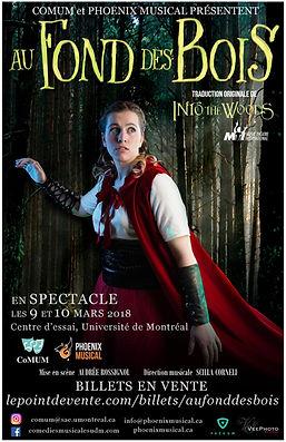 Affiche officielle Le Petit Chaperon rouge - Production 2017-2018 par CoMUM - Au fond des bois
