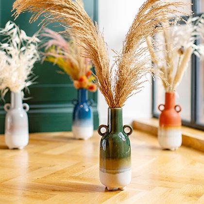 Green Ombre Vase