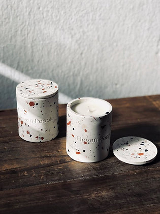 Handmade Soy Candle Container + Lid with Signature Scent