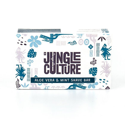 Plastic Free Zero Waste Shaving Soap Bar - Aloe Vera & Cooling Mint
