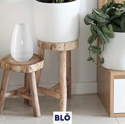 Blo Indoor & Outdoor Candle - White