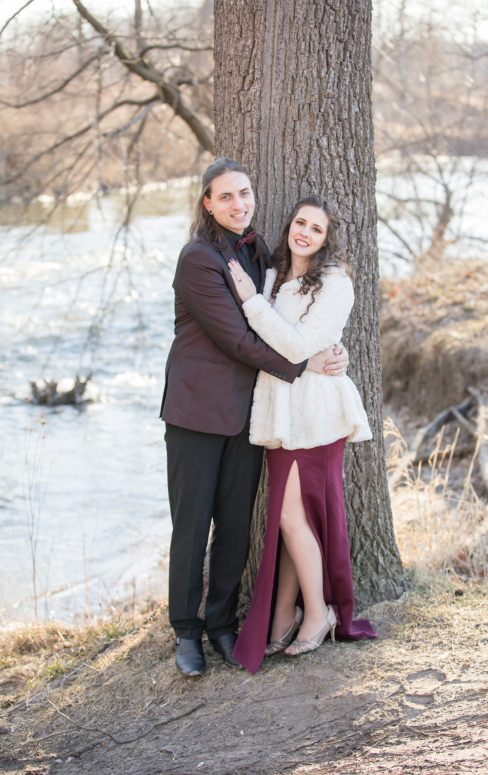 Michigan River Engagement Photography Session