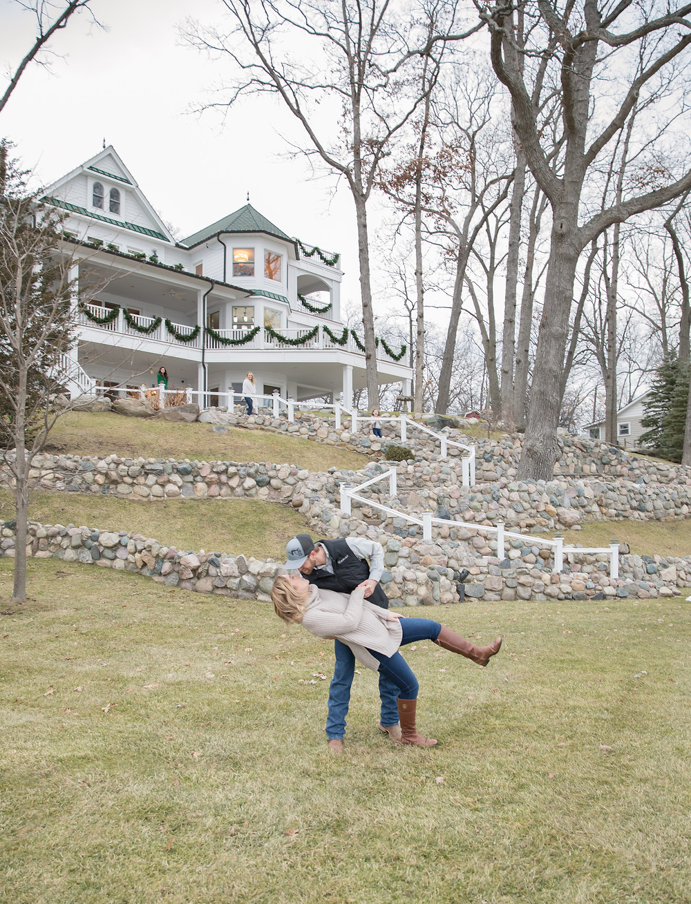 Michigan Christmas Engagement Photography Session