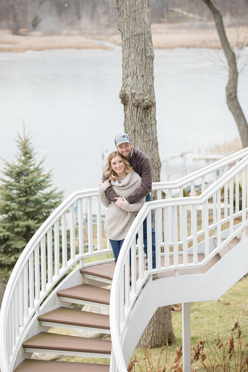Michigan Lake Engagement Photography Session